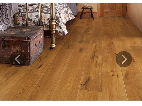 Engineered European Rustic Oak Flooring 14mm x 180mm Honey Lacquered