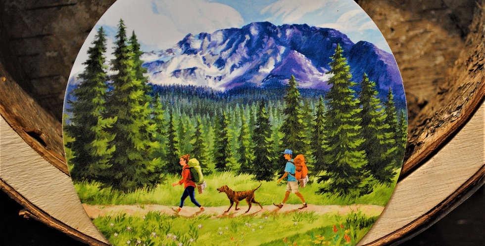 Sticker - family walk
