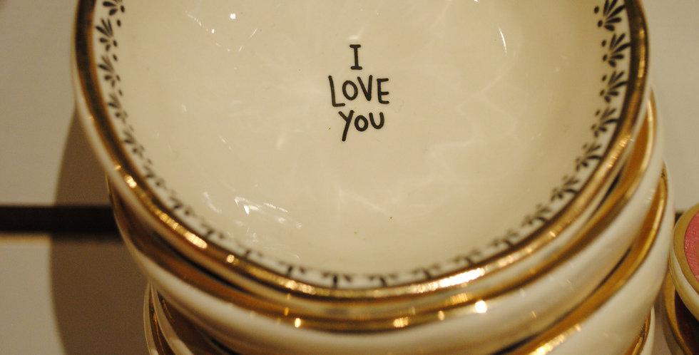 Small trinket dish - I love you