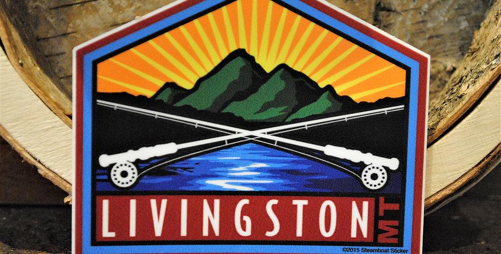 Sticker - Livingston rod & reel