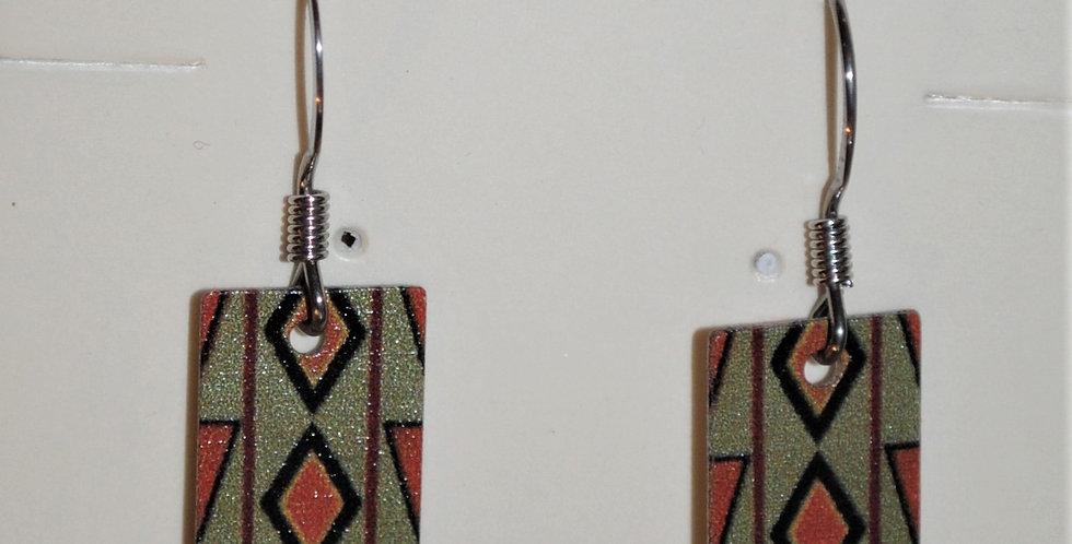 Earrings - Aztec pattern