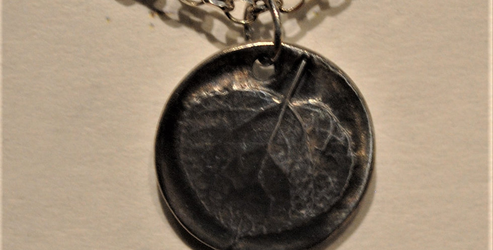 Necklace - Flax petal relief