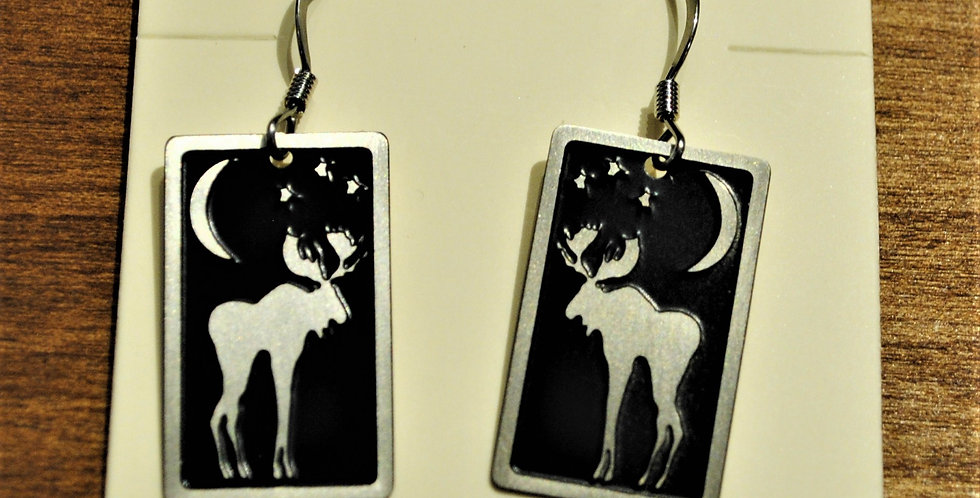 Earrings - moon moose