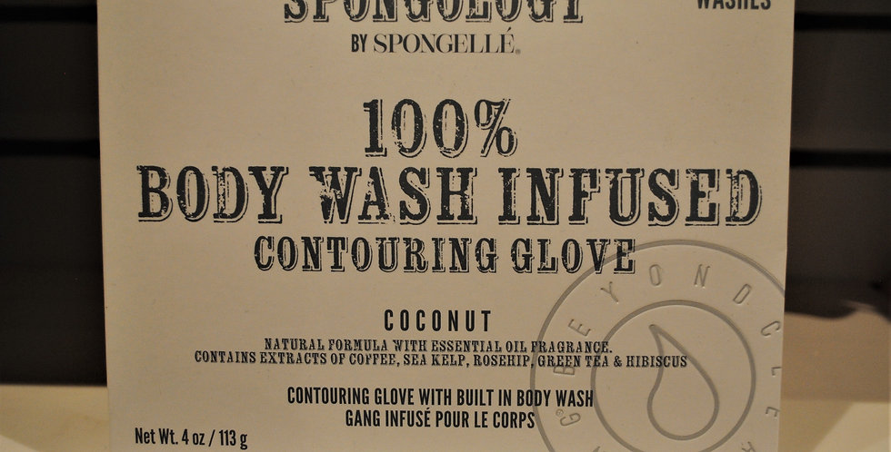 Body wash infused contouring glove