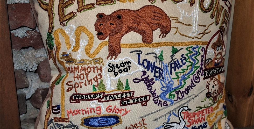 Needlepoint pillow - Yellowstone