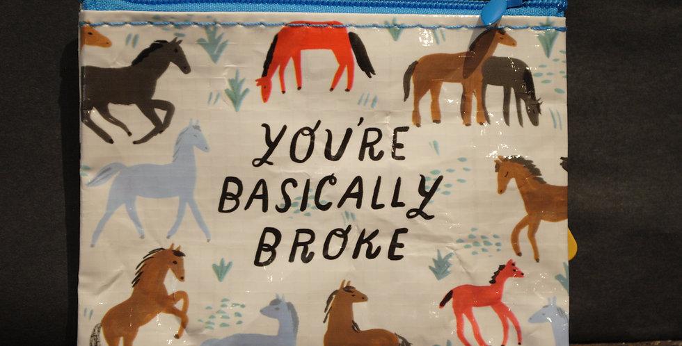 Coin purse - You're basically broke