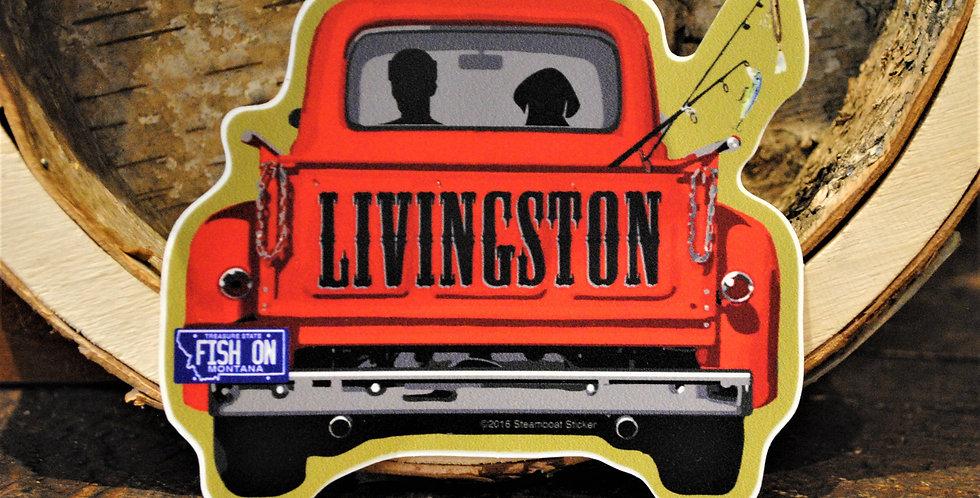 Sticker - Livingston pick up truck