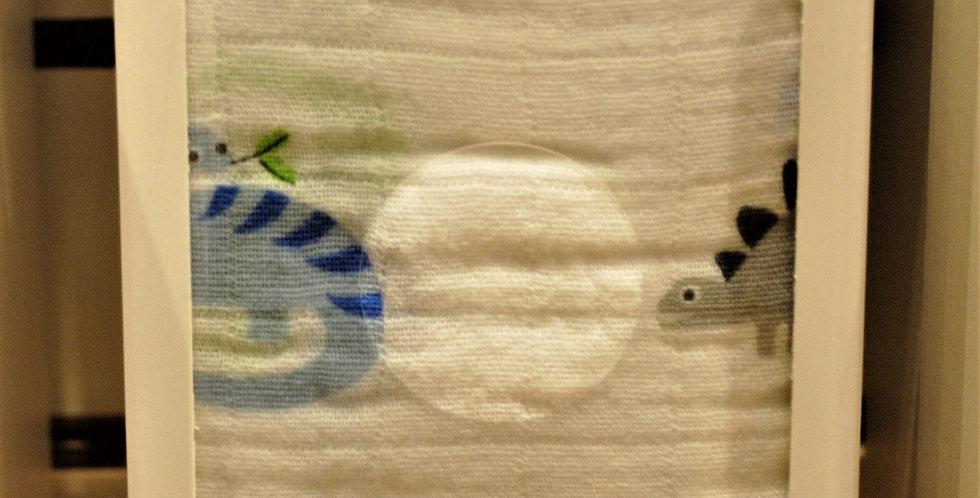 Cotton muslin blanket - dinosaurs