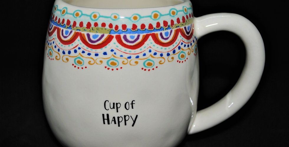 Cup of Happy ceramic mug