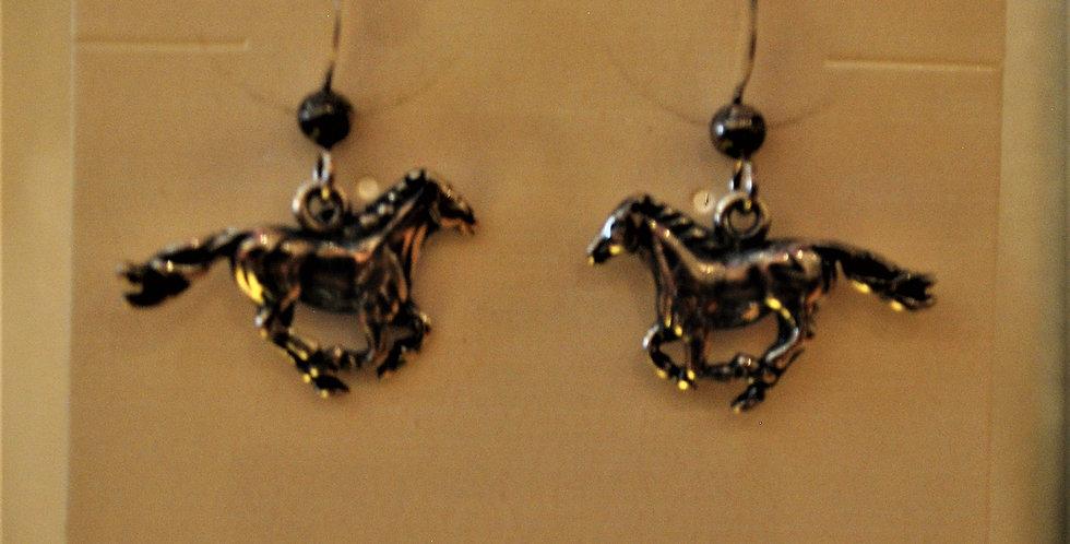 Earrings - horses/sterling silver