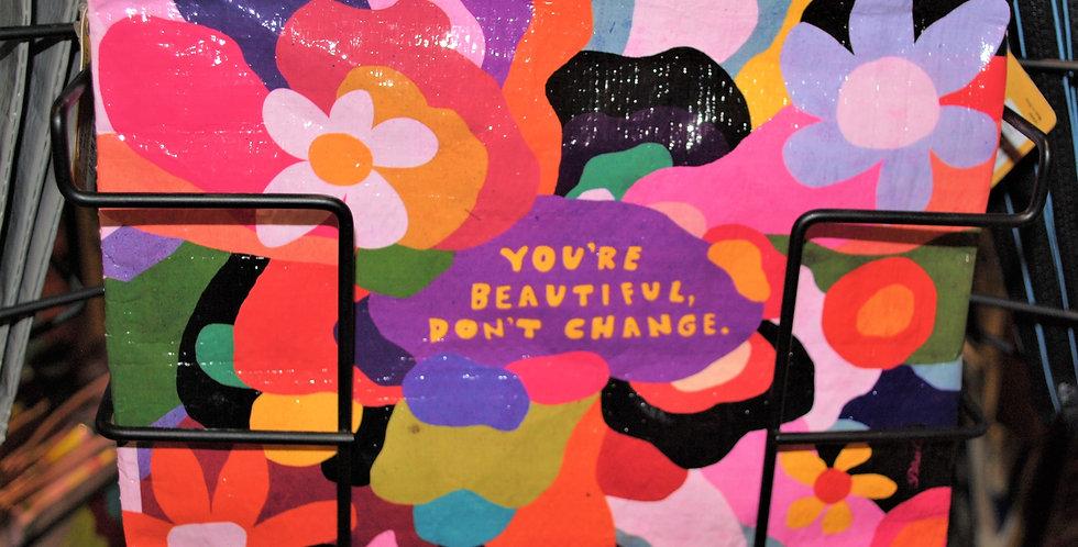 Zippr pouch - You're beautiful, Don't change