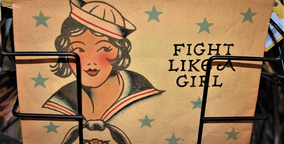 Zipper pouch -  Fight like a girl
