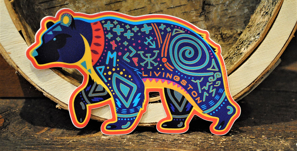 Sticker - Livingston colorful bear