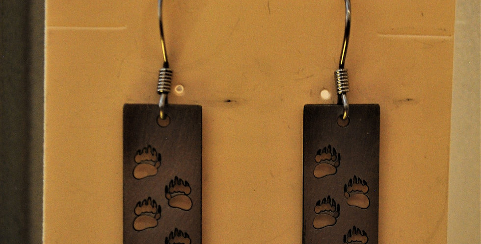 Earrings - bear paw