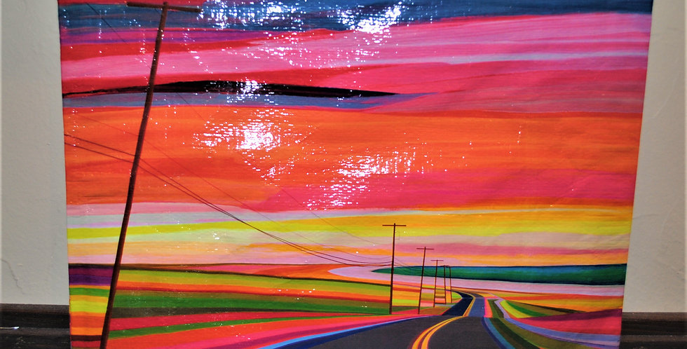 Zipper pouch - Sunset highway