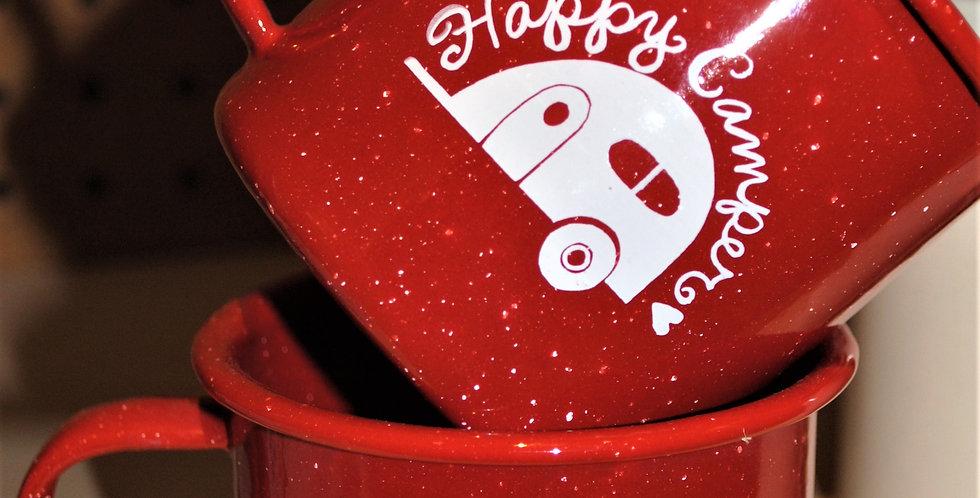 Enamel mug - Happy Camper