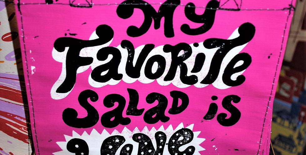 Handy tote - My favorite salad is Wine