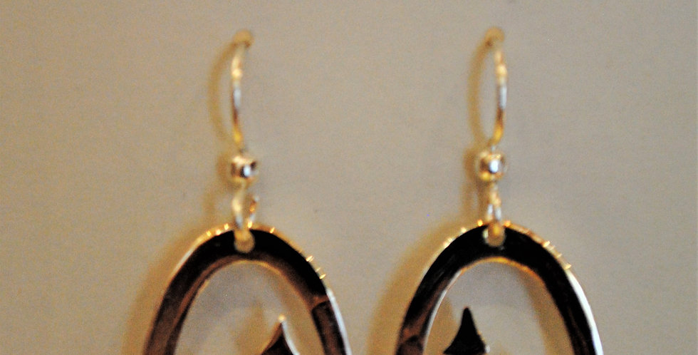 Earrings - Mountain dangle