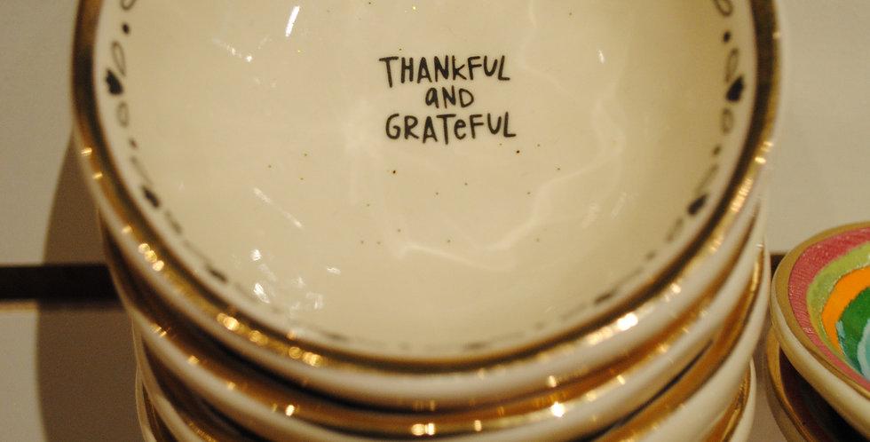 Small trinket dish - Thankful and grateful