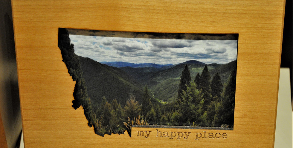 Wood frame - My happy place