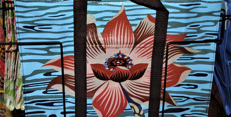 Shoulder zipper tote - Lotus