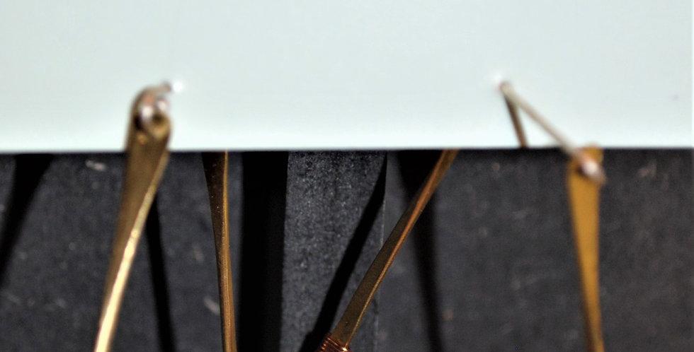 Earrings - Diamond shaped hoops with turqoise