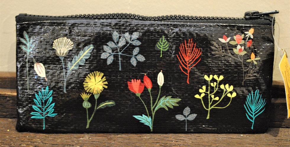 Zipper pencil style pouch - Plant study