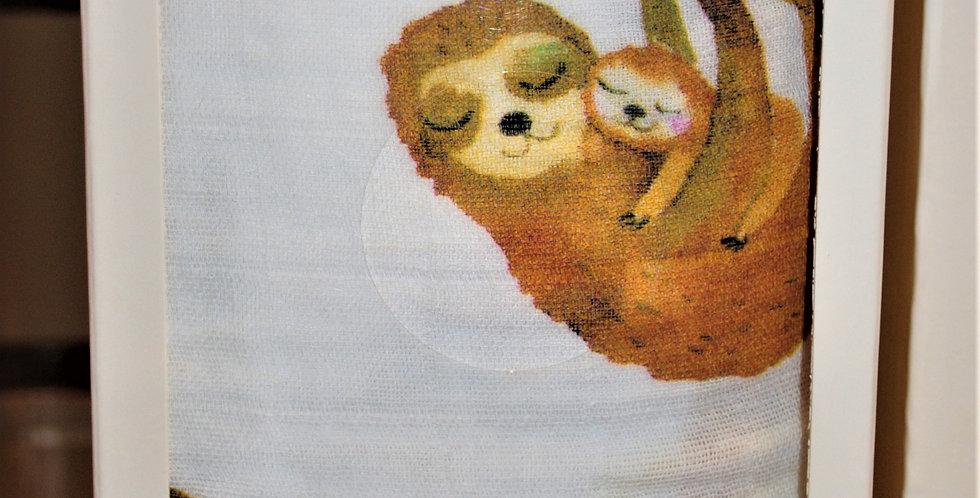 Cotton muslin blanket - sloth