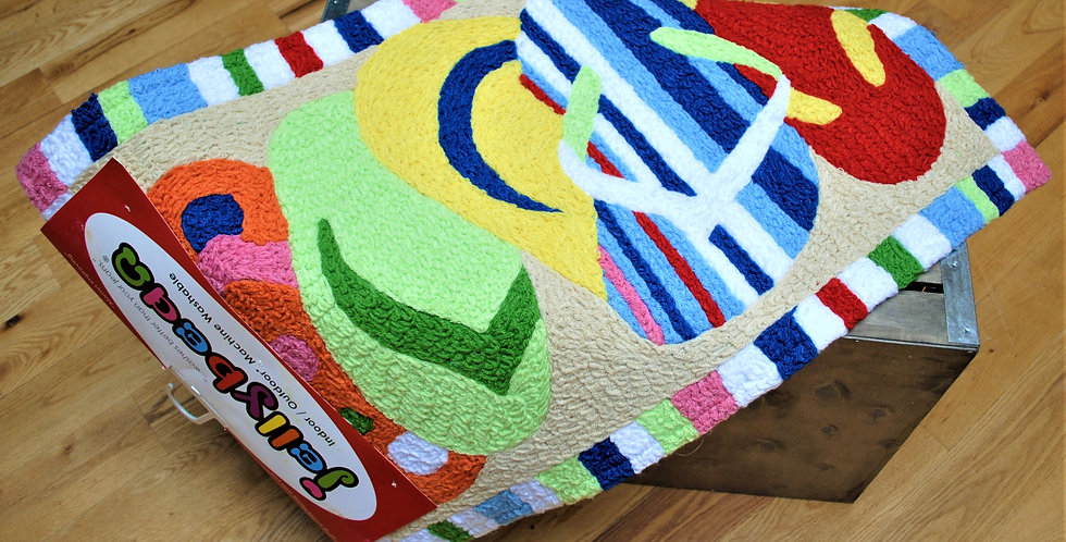 Accent rug - multicolor sandles