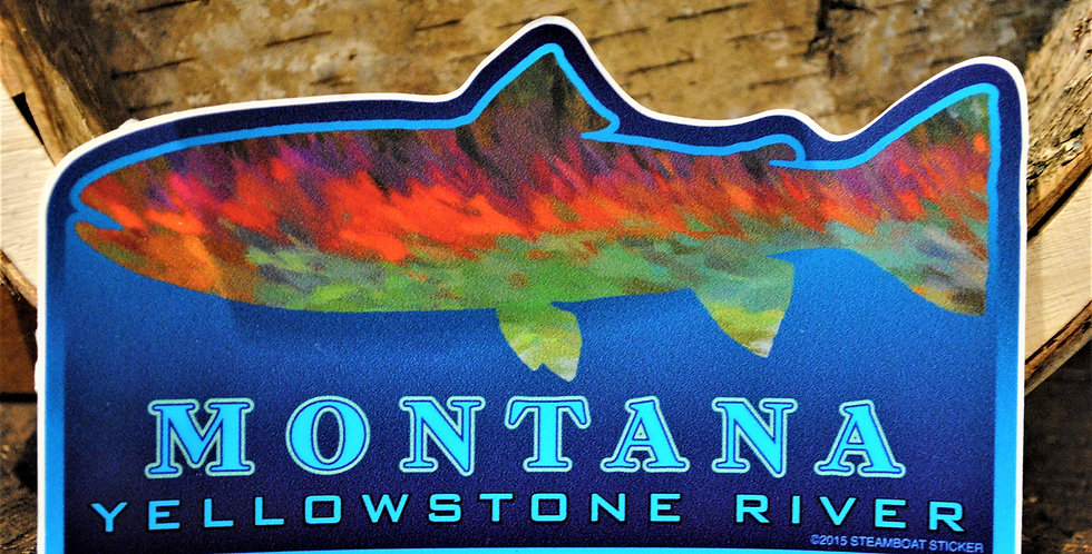 Sticker - Yellowstone river - fish