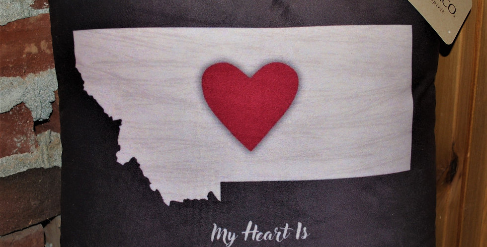 Pillow - My Heart is in Montana