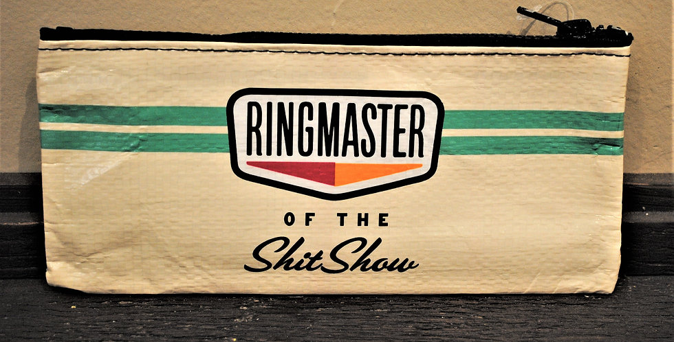 Zipper pencil style pouch - Ringmaster