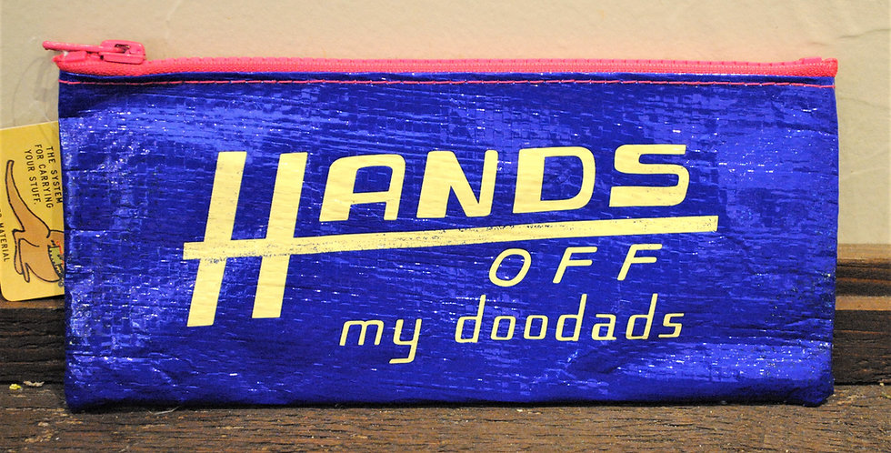 Zipper pencil style pouch -Hands off