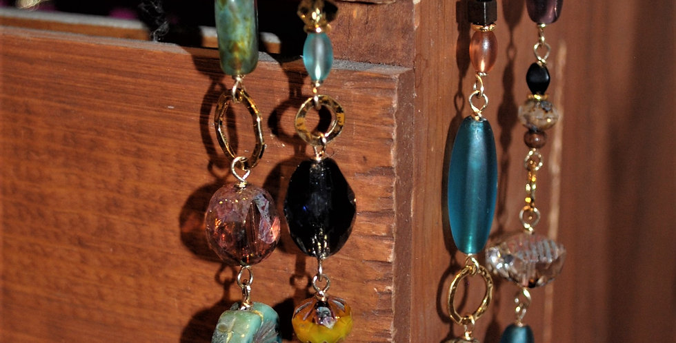 Necklace - Long length - multi bead