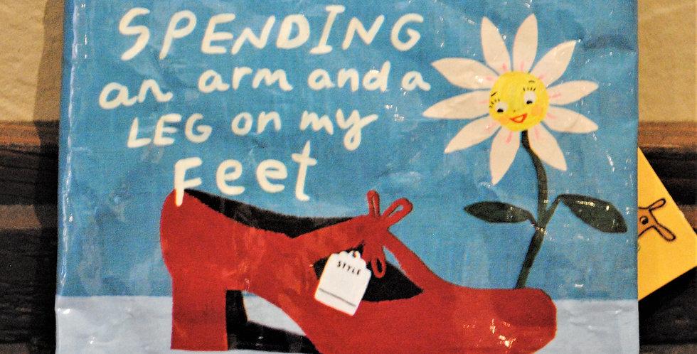 Coin purse - Spending an arm and a leg...