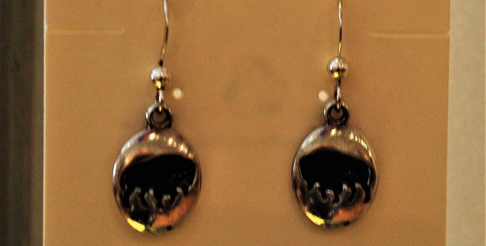 Earrings - buffalo/sterling silver