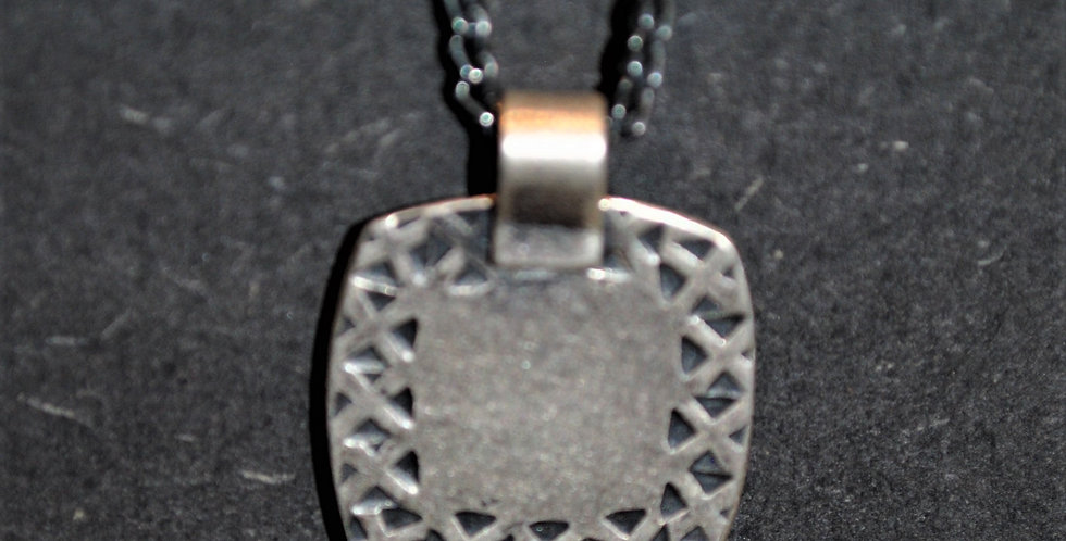 Necklace - Hammered square/triangle