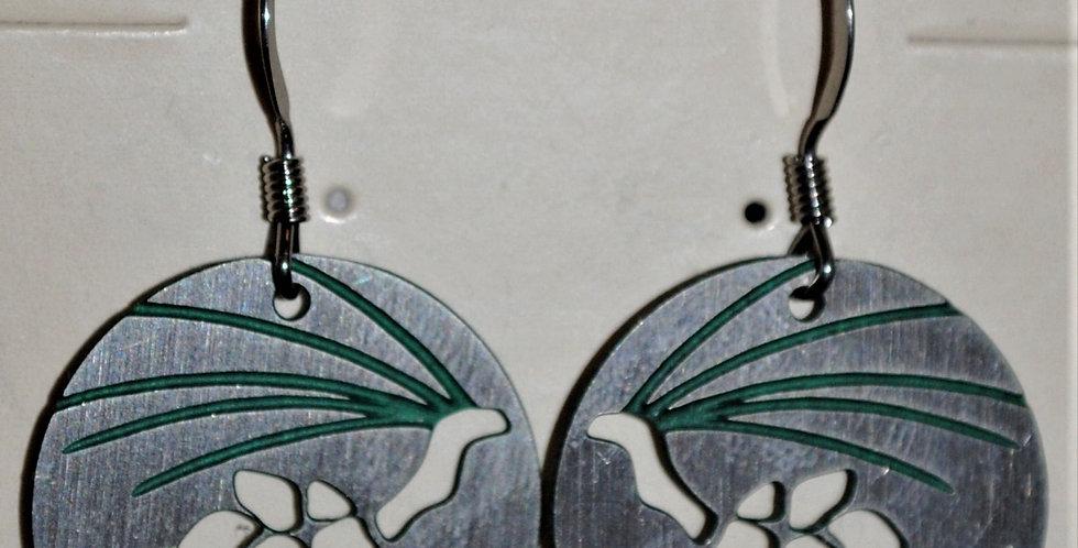 Earrings - pinecones