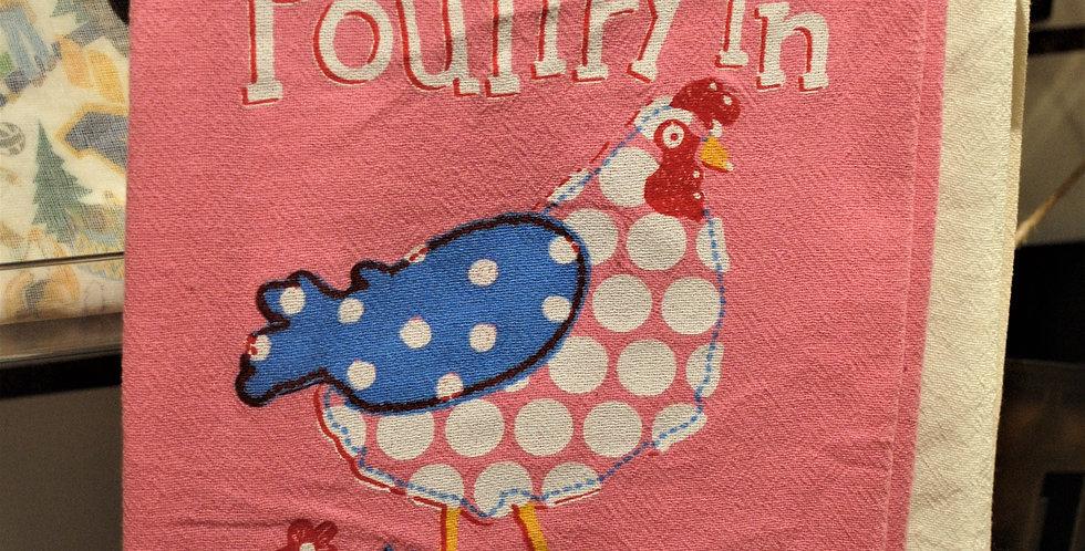 Flour sack tea towel - Chicken