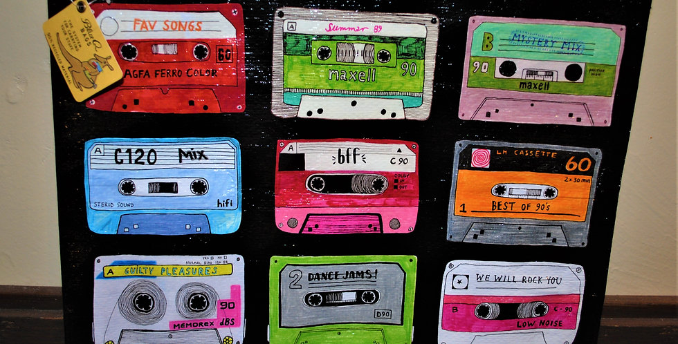 Zipper pouch - Mixtapes