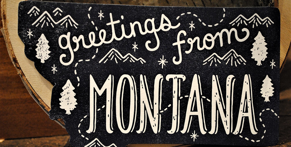 Sticker - greetings from MONTANA