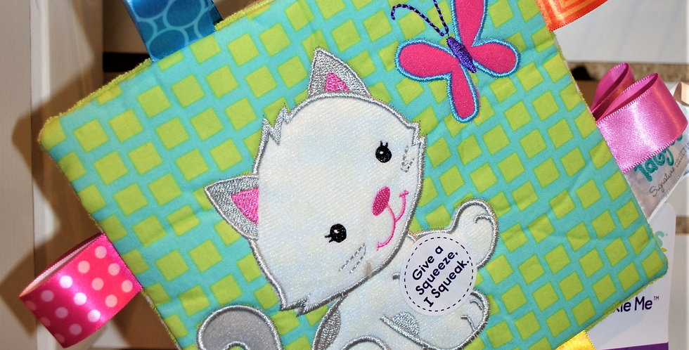 Taggles soft baby book - Kitty crinkle me