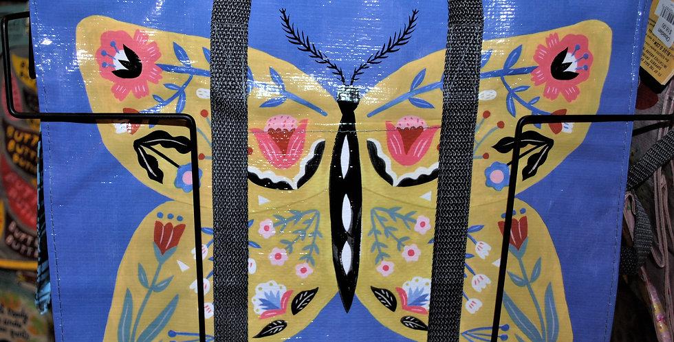 Shoulder zipper tote - Butterfly