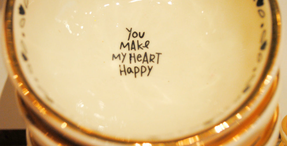 Small trinket dish - You make my heart happy