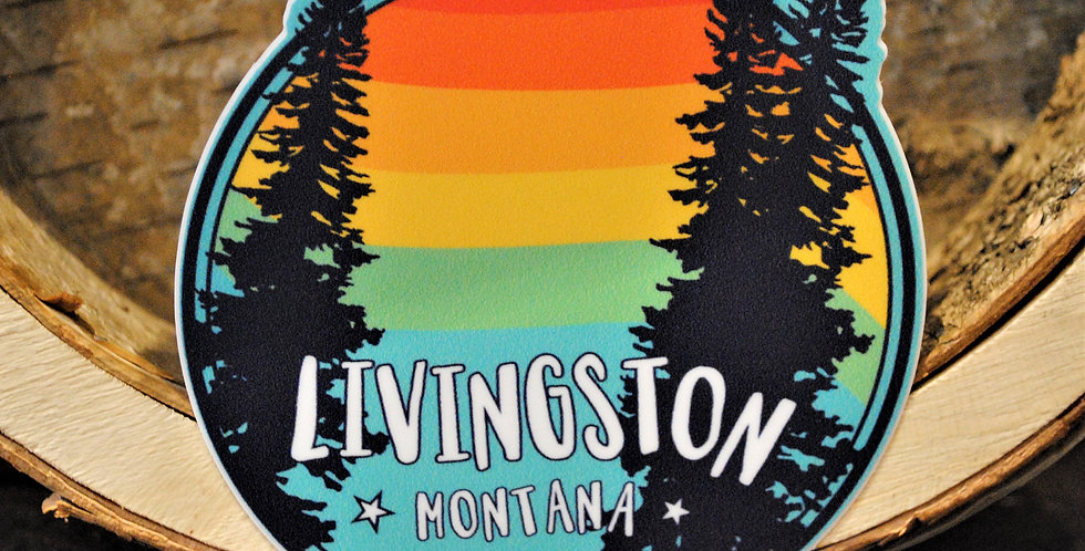 Sticker - Livingston rainbow