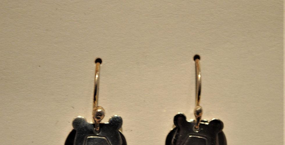 Earrings - Sterling silver bear dangle