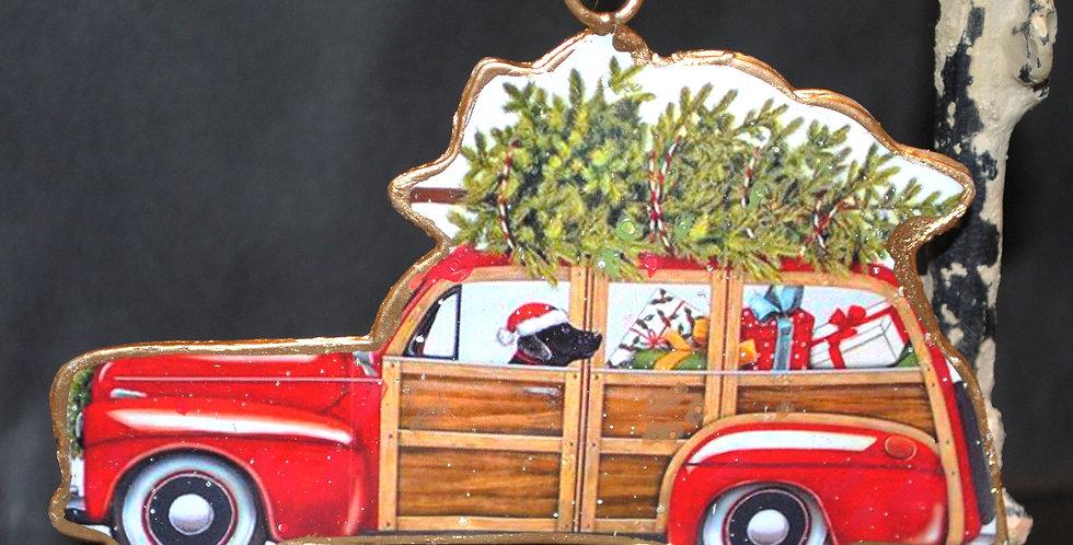Christmas ornament - Flat metal ornament
