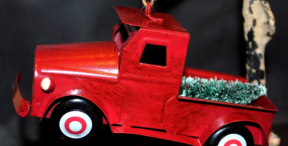 Christmas ornament -Metal Ford truck