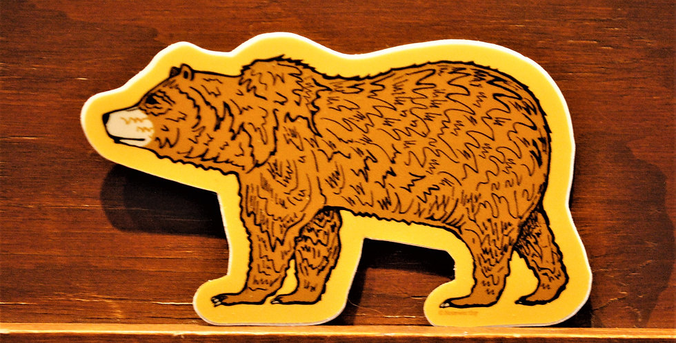 Sticker - Golden Bear