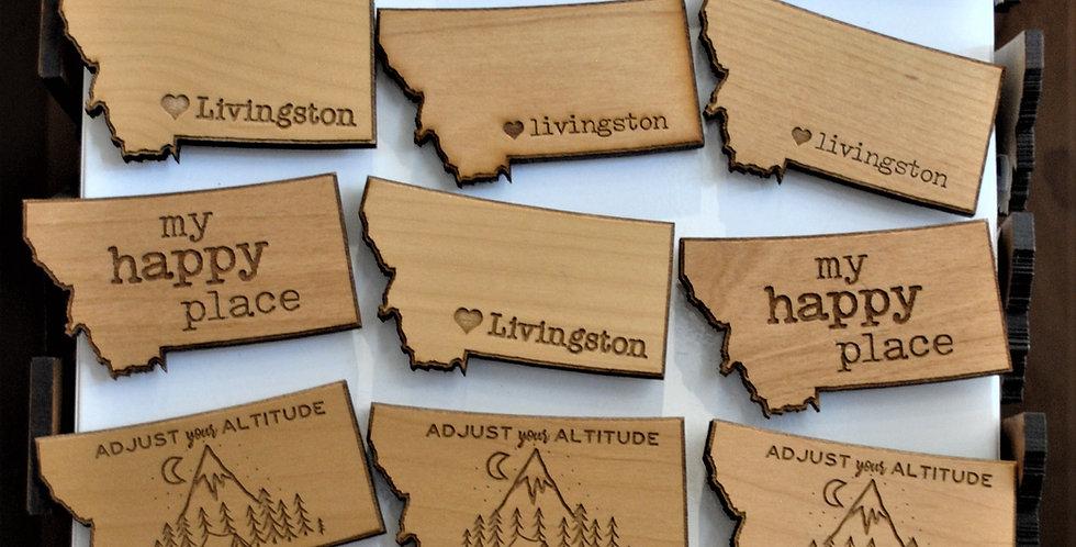 Wood magnets
